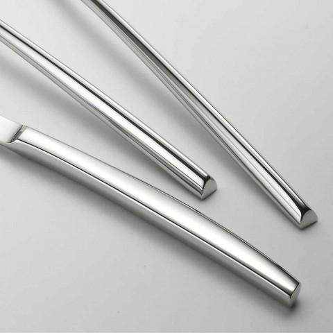 24 Polished Steel Cutlery Triangular Design Elegant Modern Design - Caplin