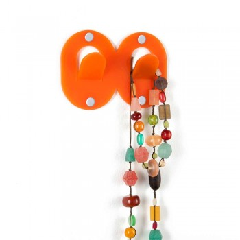3 Wall Hangers in Colored Plexiglass Double Italian Design with Clip - Freddie
