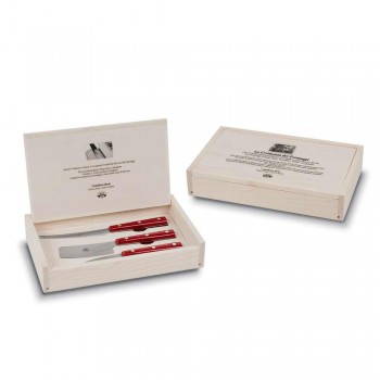 3 Berti Stainless Steel Cheese Knives Exclusive for Viadurini - Asiago