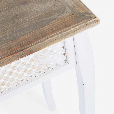 3 Classic Style Design Console in Fir Bamboo Bamboo and Mdf - Camalow