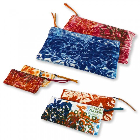 3 Hand Crafted High Quality Cotton Clutches - Viadurini by Marchi