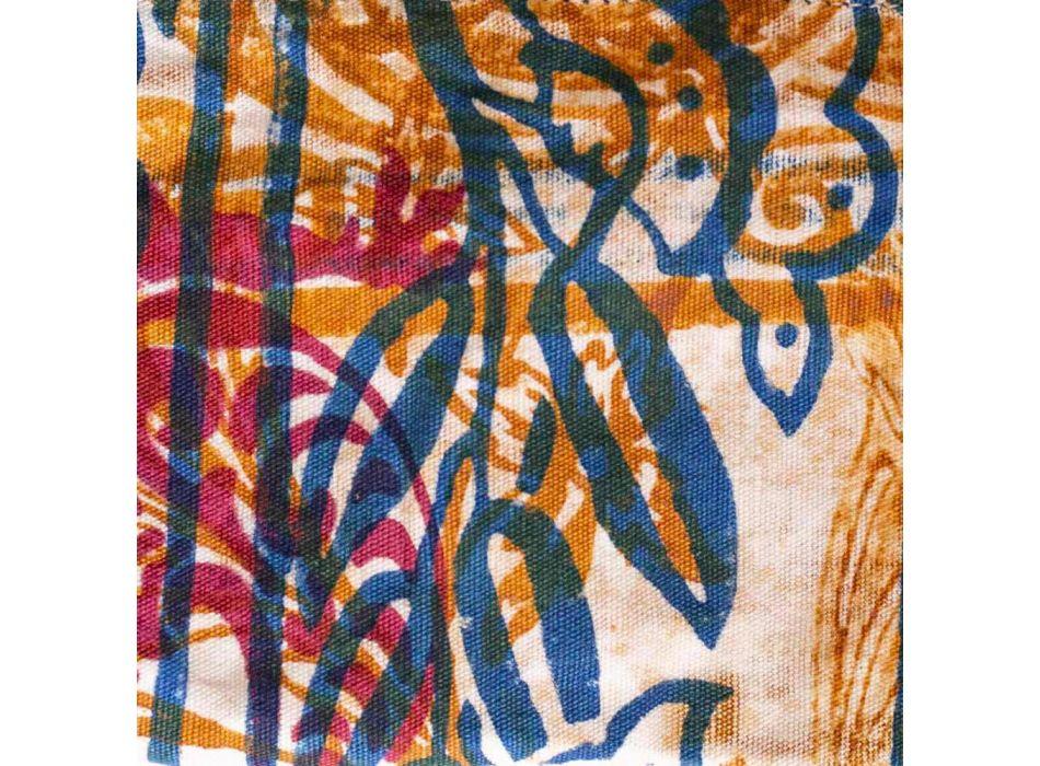 3 Hand-Printed Cotton Clutches in Unique Pieces - Viadurini by Marchi