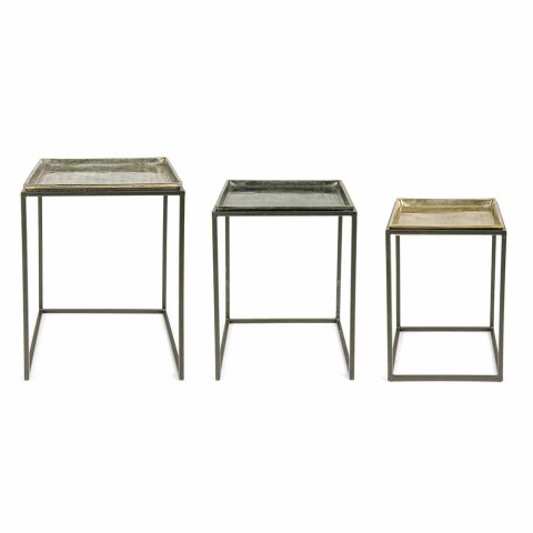 3 Square Coffee Tables in Aluminum and Steel Homemotion - Quinzio
