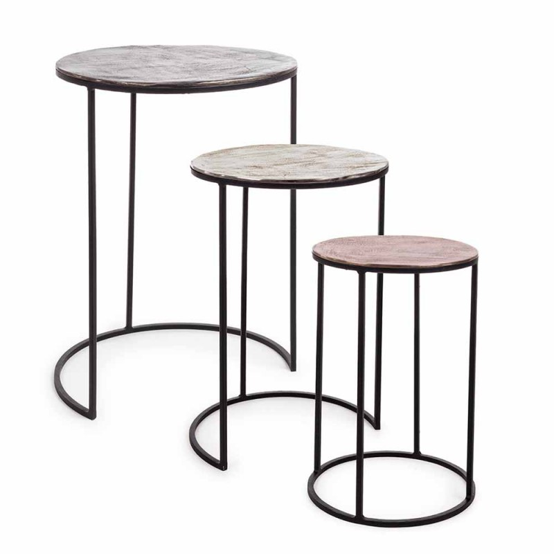 3 Round Coffee Tables in Aluminum and Steel Homemotion - Sempronio