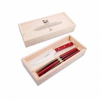 4 Berti Valdichiana table knives exclusively for Viadurini - Alanno