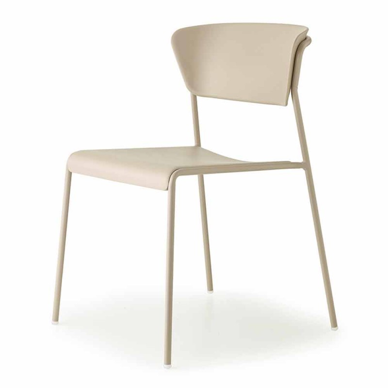 4 Outdoor Stackable Technopolymer Chairs Made in Italy - Scab Design Lisa