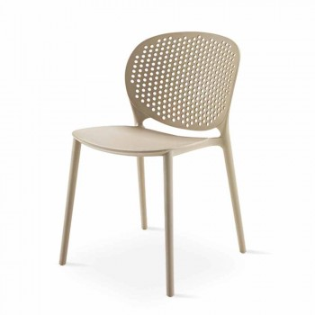 4 Modern Design Colored Stackable Polypropylene Chairs - Pocahontas
