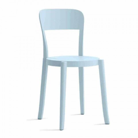 4 Outdoor Stackable Polypropylene Chairs Made in Italy Design - Alexus