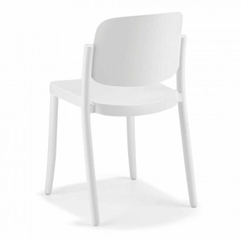 4 Modern Stackable Outdoor Chairs in Polypropylene Made in Italy - Bernetta