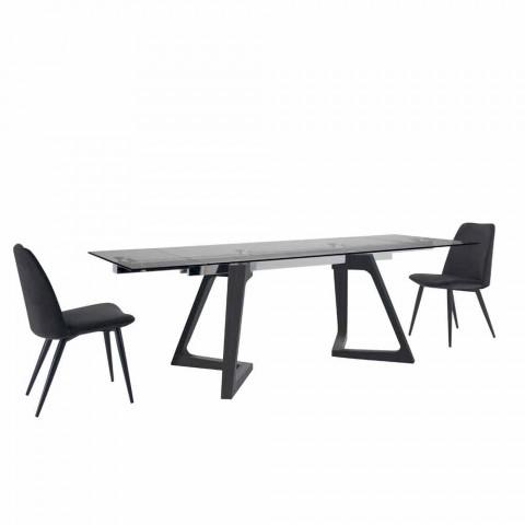 4 Upholstered Dining Room Chairs Upholstered in Velvet Made in Italy - Grain