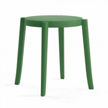 4 Outdoor Stackable Stools Design in Polypropylene Made in Italy - Anona
