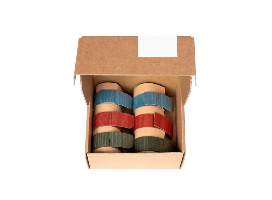6 Design Napkin Rings in Assorted Colors Made in Italy - Potty