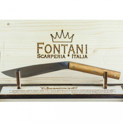 6 Ergonomic Steak Knives with Steel Blade Made in Italy - Shark
