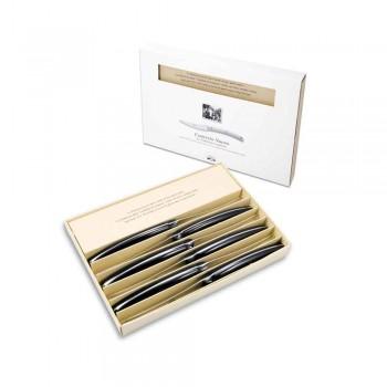 6 Convivio Nuovo Berti table knives exclusively for Viadurini - Alifano