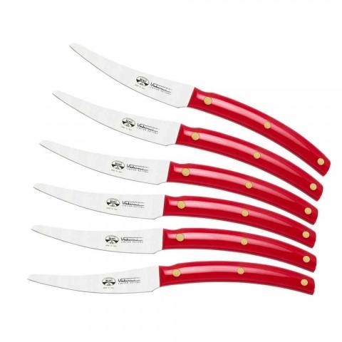 6 Convivio Nuovo Berti table knives exclusively for Viadurini - Alserio
