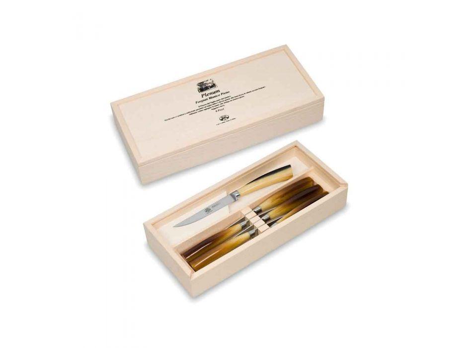6 Berti Plenum Smooth Blade Knives Exclusive for Viadurini - Andalo
