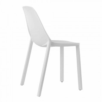 6 Modern Stackable Chairs in Technopolymer Made in Italy - Scab Design Più