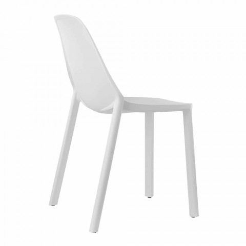 6 Modern Stackable Technopolymer Chairs Made in Italy - Scab Design Più