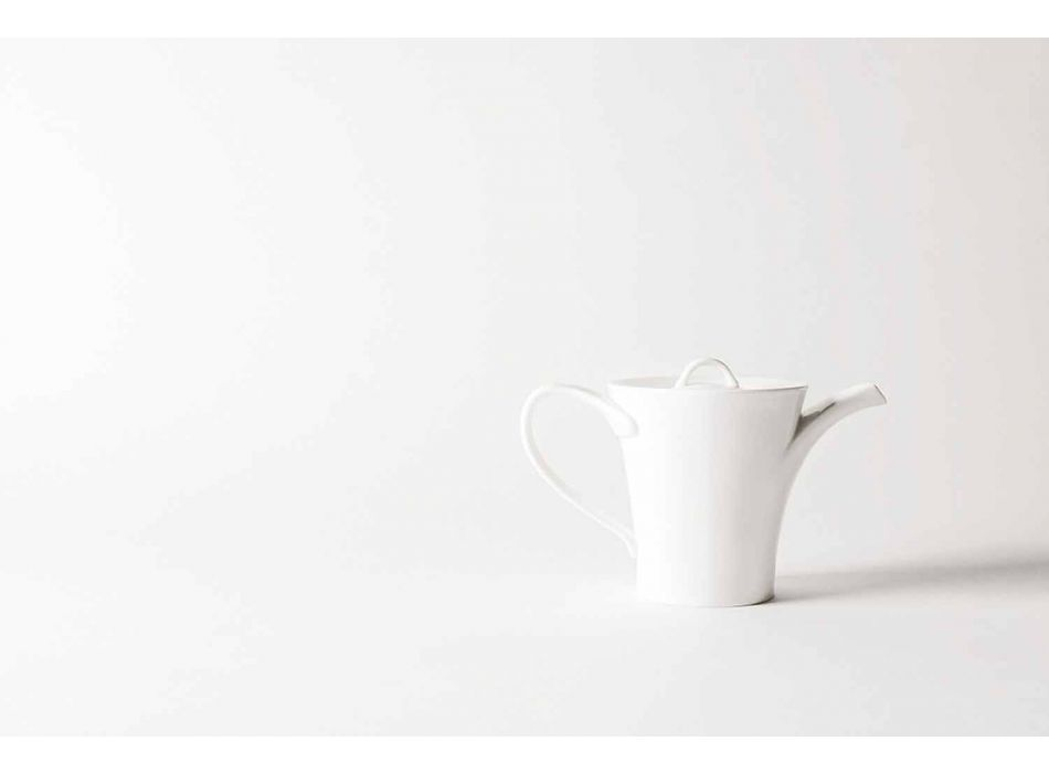 6 Porcelain Coffee Cups with Coffee Pot and Sugar Bowl - Romilda