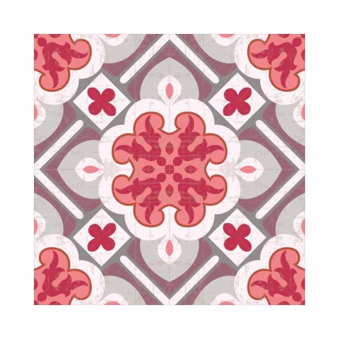 6 Elegant American Placemats in Washable PVC and Polyester - Petunia