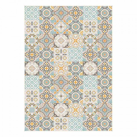 6 Elegant Rectangular Patterned American Placemats - Frisca