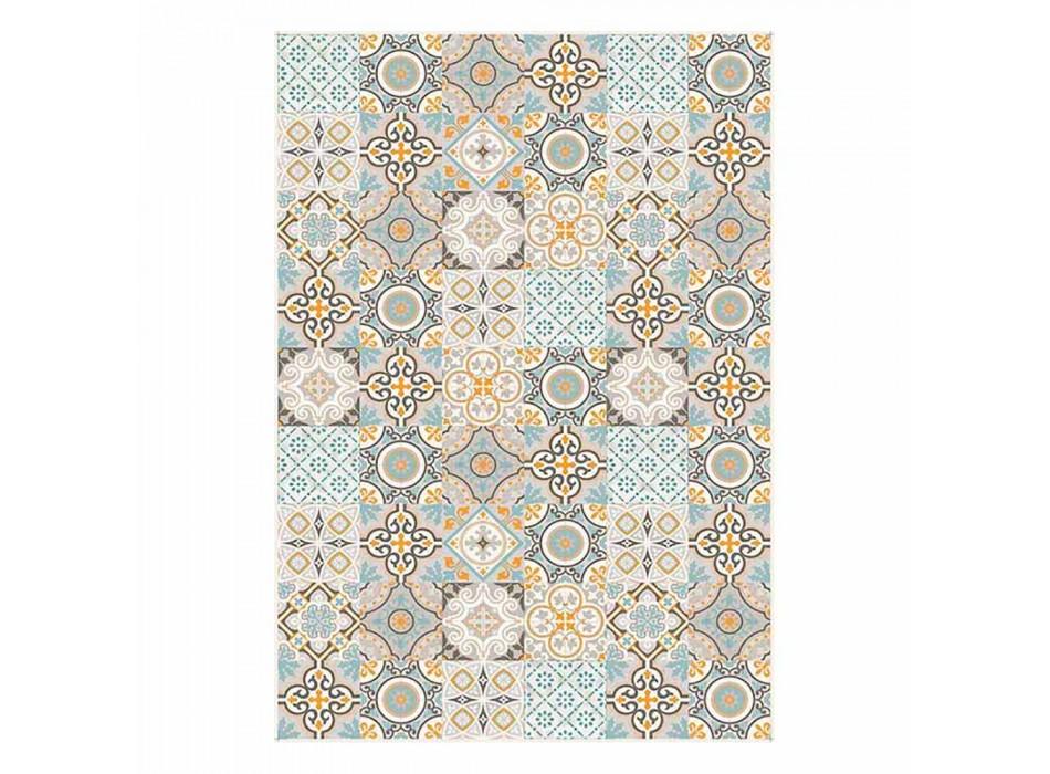 6 Elegant Rectangular Patterned American Placemats - Frisca