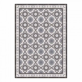 6 Patterned Washable American Placemats in PVC and Polyester - Coria