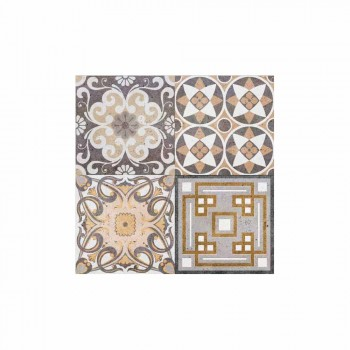 6 Rectangular American Design Placemats in PVC and Polyester - Dimetra