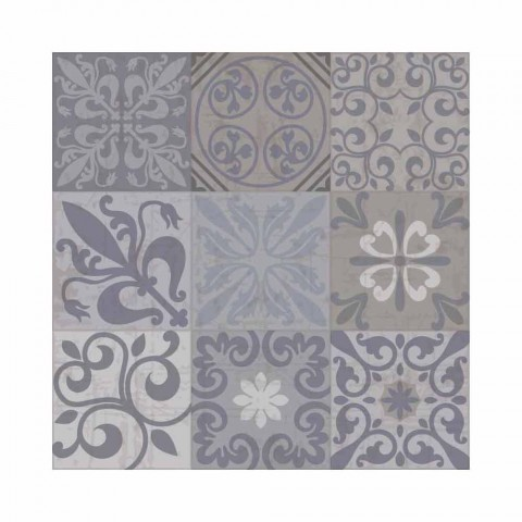 6 Elegant Placemats in Pvc and Polyester with Black or Gray Pattern - Pita