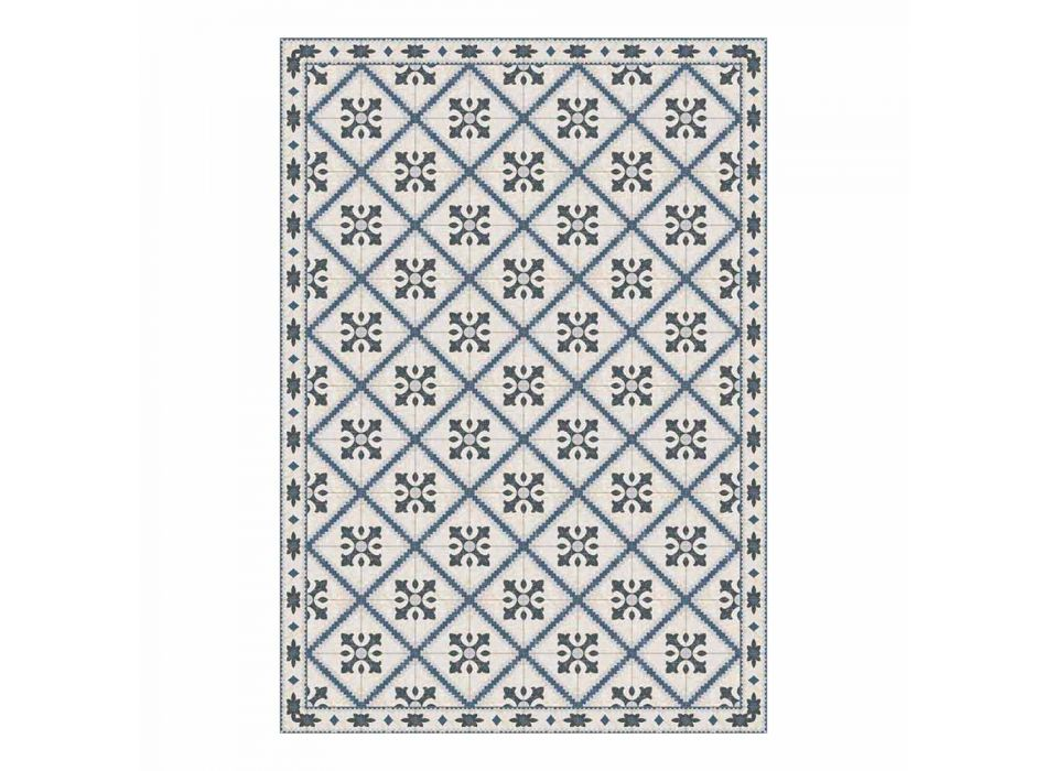 6 Rectangular Placemats in Pvc and Polyester with Patterned Design - Berimo