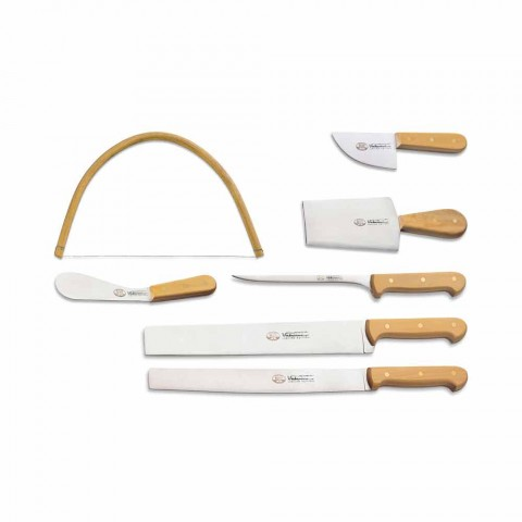 7 Berti Italian Stainless Steel Knives Exclusive for Viadurini - Alessano