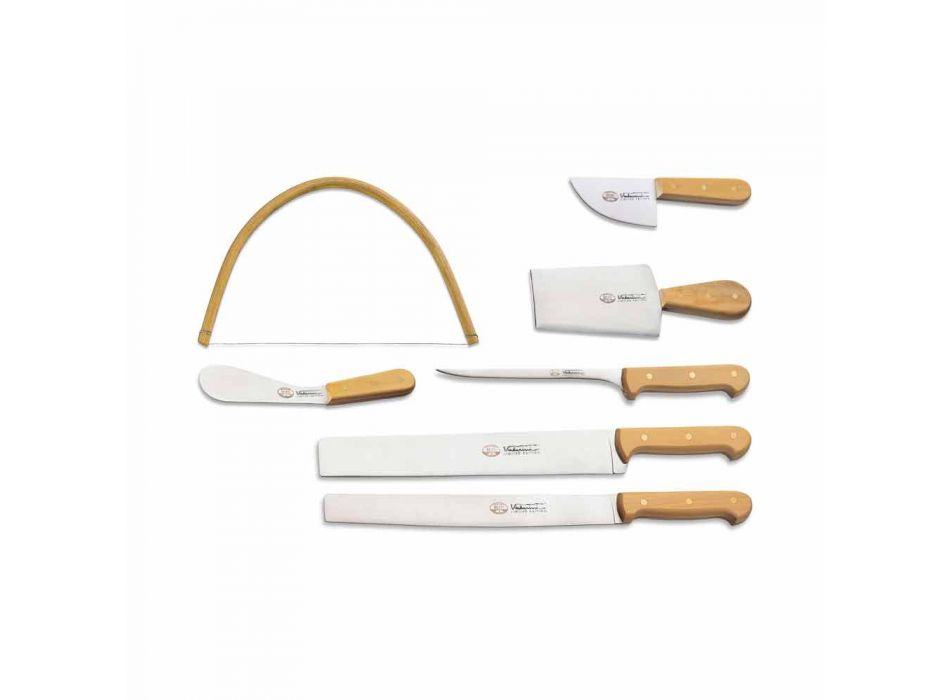 7 Berti Italian Stainless Steel Knives Exclusive for Viadurini - Alessano
