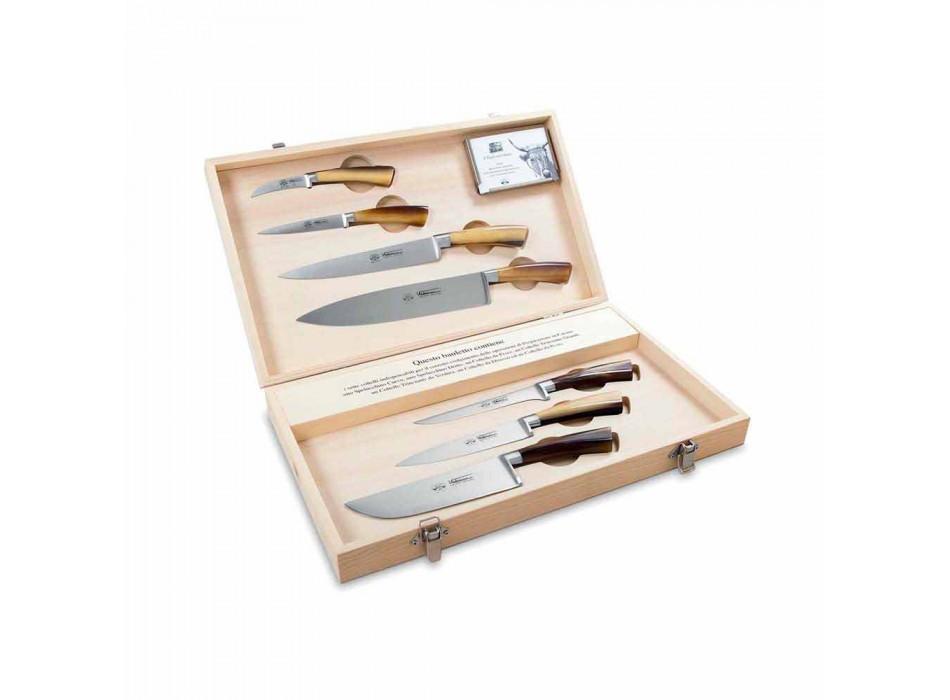 7 Berti Italian stainless steel knives exclusively for Viadurini - Goya