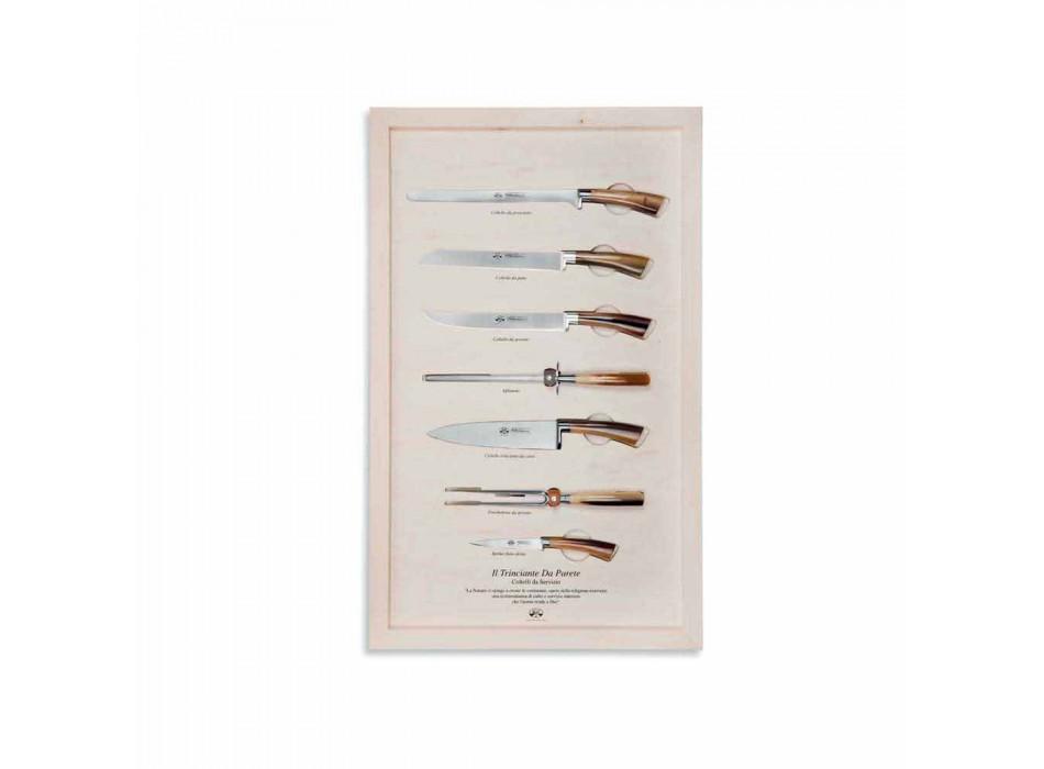 7 Berti Stainless Steel Serving Knives Exclusive for Viadurini - Arcimboldo