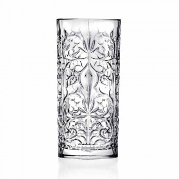 8 Highball Tumbler Tall Glasses for Cocktail in Eco Crystal - Malgioglio