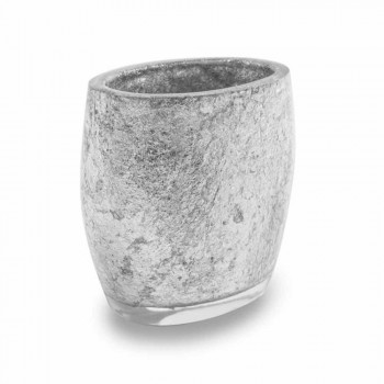 Bathroom Accessories in Resin Coated in Silver Leaf - Argentine