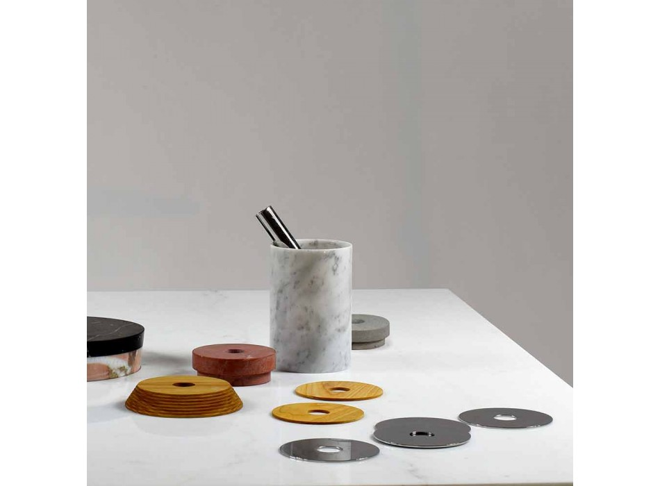 Aperitif Accessories Cocktail Instruments in Marble, Wood and Steel - Norman