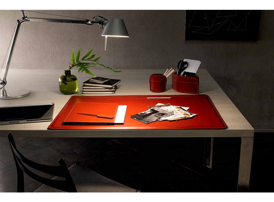 Desk Accessories in Regenerated Leather 5 Pieces Made in Italy - Ebe