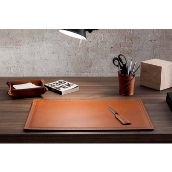 Accessories 4 Piece Regenerated Leather Desk Made in Italy - Ascanio