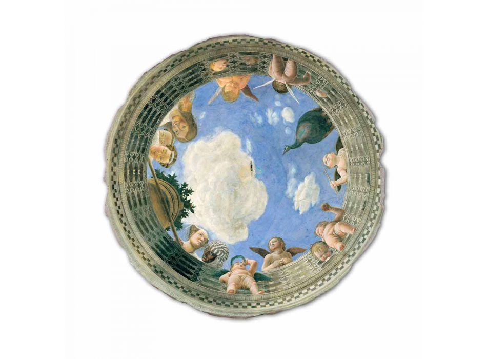 """Fresco Andrea Mantegna """"Oculus with Cherubs and Dame Overlooking"""""""