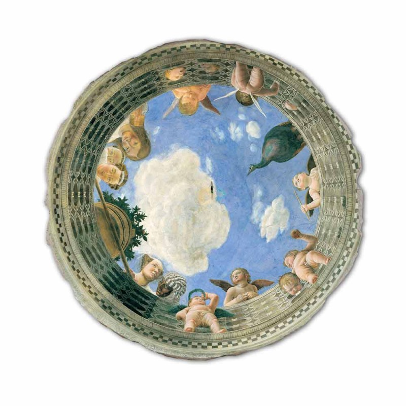 "Fresco Andrea Mantegna ""Oculus with Cherubs and Dame Overlooking"""