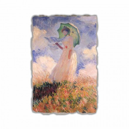 Woman with a Parasol, Facing Left by Claude Monet