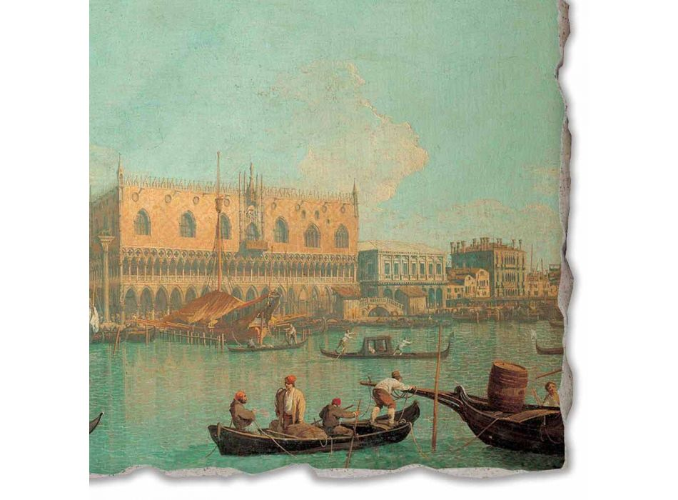 """Fresco Canaletto """"View of the Palazzo Ducale in Venice"""""""