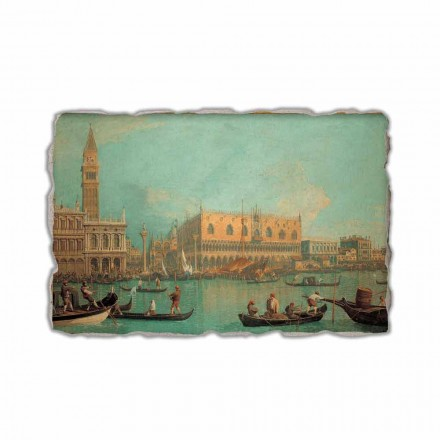 A View of the Ducal Palace in Venice by Canaletto