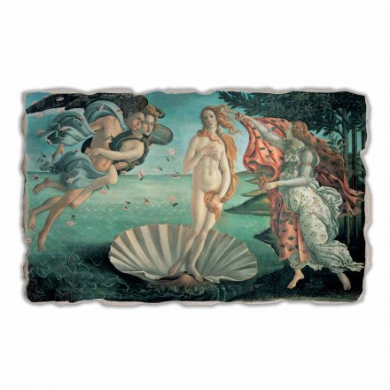 The Birth of Venus by Botticelli, hand-painted fresco