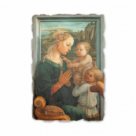 Madonna with Child by Filippo Lippi, hand-painted fresco