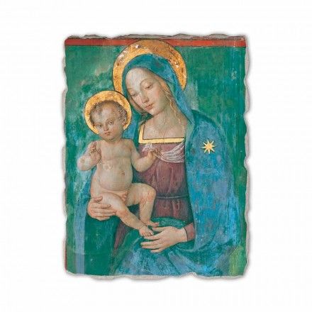 Madonna with Child by Pinturicchio, hand-painted fresco