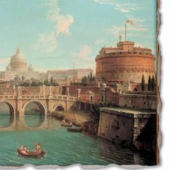 """large fresco Antonio Joli """"View of St. Peter"""""""