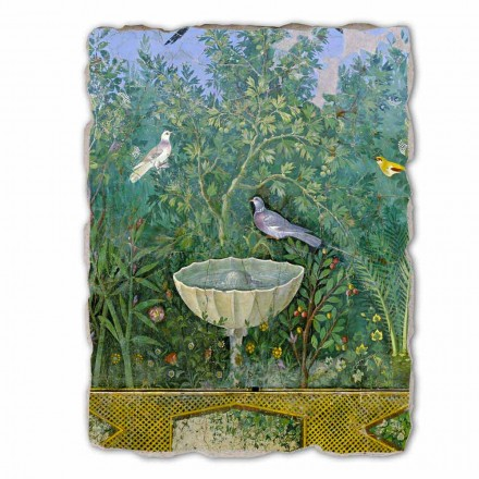 Fountain and Bird (detail), Roman art, big size