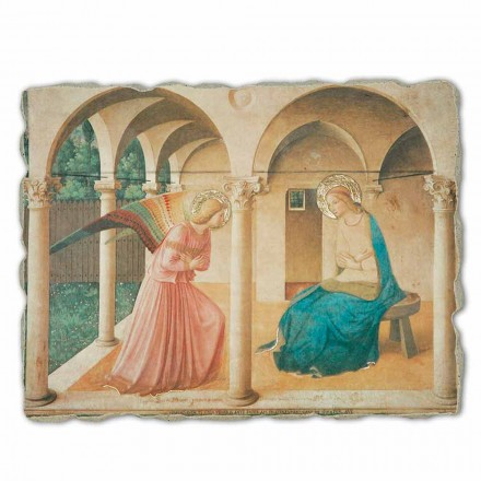 The Annunciation fresco by Fra Angelico, big size